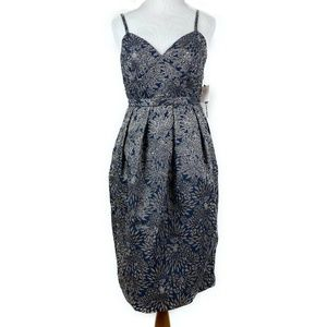 New Laundry by Shelli Segal Dress Floral Metallic